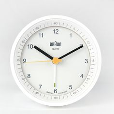 To know more about Braun Braun Alarm Clock Lighted Dial - white, visit Sumally, a social network that gathers together all the wanted things in the world! Featuring over 900 other Braun items too! Industrial Clocks, Vintage Industrial, Industrial Design, Little Designs, Cool Designs, Dieter Rams Design, Braun Dieter Rams, Light Alarm Clock, Design Language
