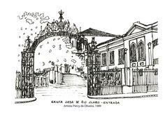 Santa Casa de Rio Claro - Entrada. Percy de Oliveira. 1989. Imagem do acervo do APHRC