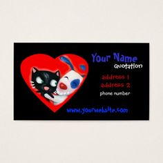 Paw print heart business card business cards business and card pet care veterinarians animal lovers double sided standard business cards pack of make your own business card with this great design accmission Gallery