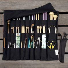 CUSTOM Needle Case Knitting o herramienta del arte por lenabrowndesigns
