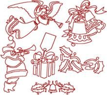 Advanced Embroidery Designs. Christmas >> Redwork Embroidery Designs.