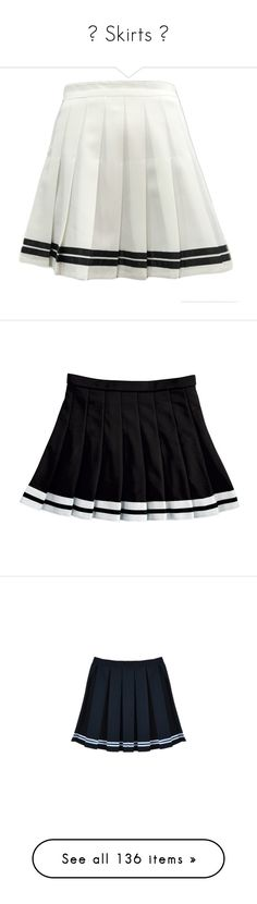 """""""☾ Skirts ☽"""" by na-ri ❤ liked on Polyvore featuring skirts, bottoms, white, white striped skirt, knee length pleated skirt, pleated skirt, striped skirt, white pleated skirt, black and clothing - skirts"""