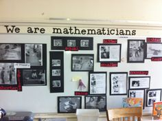 We are Mathematicians! How we show math in the class room and math words we use in kindergarten! Could do this in all centers.
