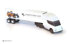 Tesle Semi Truck paper model