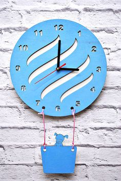 Wooden Wall Clock Aerostat