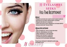 Are you local to NYC and looking for a new start in the spa industry? If so, join the JJ Eyelashes family!