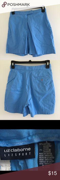 Shorts 🐟 Liz Claiborne blue shorts. EUC. Size 4. Liz Claiborne Shorts