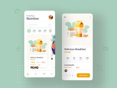 list of some Great Stunning Food & Drink Mobile App UI Design Sample in this post to give you an innovative boost. Food is an important Design Responsive, App Ui Design, Interface Design, User Interface, Responsive Web, Flat Design, Design Design, Ecommerce, Graphic Design