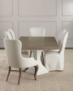 Shop Eleri Slipcover Dining Side Chair from Hooker Furniture at Horchow, where you'll find new lower shipping on hundreds of home furnishings and gifts. Acrylic Dining Chairs, Leather Dining Room Chairs, Dining Arm Chair, Chair And Ottoman, Swivel Chair, Chair Cushions, Navy Living Rooms, Living Room Chairs, Dining Rooms