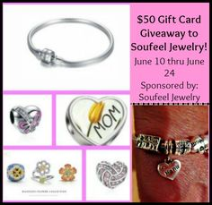 Enter to #win the Soufeel Jewelry $50 Gift Card #Giveaway - Ends 6/24 - Davids DIY