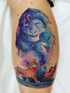 Tattoo Disney Sleeve The Lion King - Tattoo Dad Tattoos, Small Tattoos, Sleeve Tattoos, Cool Tattoos, Tattoo Ink, Lion King Drawings, Lion King Art, Lion King Tattoos, The Lion King