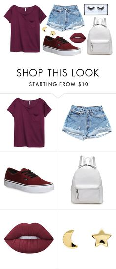"""""""Maroon"""" by elli-ee ❤ liked on Polyvore featuring H&M, Vans, Lime Crime and Erica Weiner"""