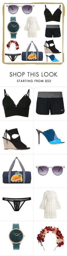 """Think fashion"" by denisee-denisee ❤ liked on Polyvore featuring Alexander Wang, NIKE, Aquazzura, Malone Souliers, See by Chloé, Komono, Maison Close, Sea, New York, Nixon and Eugenia Kim"