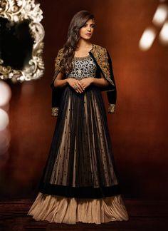 Cbazaar Priyanka Chopra Layered Floor Length Anarkali $240