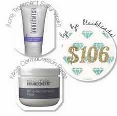 """CHRISTMAS 2015!! """"I LOVE BLACKHEADS!""""...said no one ever. Whether you are 16 or 46, blackheads are a pain to get rid of! This combo does the trick. First, use our micro-dermabrasion paste to remove dry cells that clog pores. Then, use our Unblemished Sulfur Wash as a 10 minute, pore-cleansing mask. This is one of my top selling combos!!! www.saramartin.myrandf.com/Shop sjoymartin@gmail.com"""