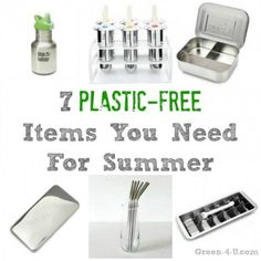 7 Plastic-Free Items You Need For Summer - Green Living Tips, Green Tips, 5 Rs, Plastic Alternatives, Dyi, Reduce Reuse Recycle, Clean Living, Sustainable Living, Free Items