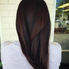 Chocolate Brown Hair with Red Undertones