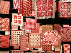Red and White Quilt Exhibit in NYC. The vintage red and whites are some of my favorites.