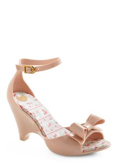 Pink almost wedge heels from modcloth.com These would be so cute in the spring. Perfect amount of sweetness.
