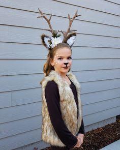 Hirsch Kostüm Deer costume, - Famous Last Words Girl Deer Costume, Deer Costume Makeup, Deer Costume For Kids, Deer Halloween Makeup, Handmade Halloween Costumes, Deer Makeup, Hallowen Costume, Cute Couple Halloween Costumes, Diy Costumes