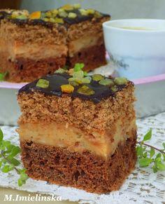 Polish Cake Recipe, Polish Recipes, Sweet Recipes, Cake Recipes, Good Food, Yummy Food, Nutella, Breakfast Menu, Happy Foods