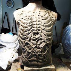 """""""I start sculpting zombi's body of my version for PPI make-up demo at Monster pLooza 2016 in April. Oil Based Clay, Evil Art, The Revenant, Horror Art, Monster, Zbrush, Sculpture Art, Book Art, Sculpting"""
