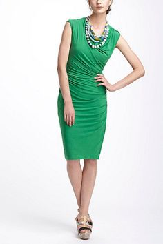 anthropologie green dress