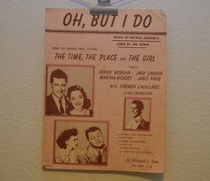 Vintage 1946 Oh But I Do Music and Song by FloridaFindersPaper, $5.00
