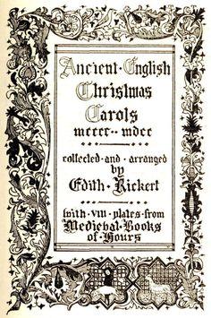 ancient christmas carols