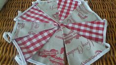Handmade Christmas Bunting with Fryetts Vintage & Laura Ashley Gingham