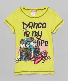 Yellow 'Dance Is My Life' Tee - Toddler & Girls