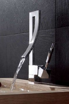 Photography Gallery Sites Bathroom Elegant Design Curved Spout Waterfall Lavatory Faucet Mixer Tap http