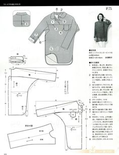 Japanese book and handicrafts - MRS Style Book Clothing Patterns, Dress Patterns, Sewing Patterns, Make Your Own Clothes, Diy Clothes, Fashion Sewing, Diy Fashion, Sewing Blouses, Japanese Sewing