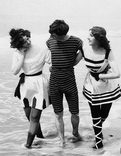 1899. Coney Island Bathers.  I have a suit like this that i'm taking with me!