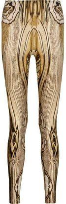 ShopStyle: Alexander McQueen Woodgrain-printed leggings