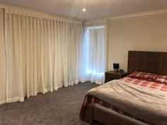 Sheer Curtains with Roller Blinds - Majestic Curtains and Blinds Sheer Drapes, Curtains With Blinds, Coffee Bars, Made To Measure Curtains, Roller Blinds, Modern Design, Luxury, Bed, Interior