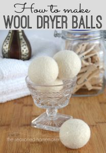 Learn How to Wool Make Dryer Balls and save money on drying your clothes. Felted Wool Dryer Balls are easy and inexpensive to make. These would make a great gift. #seasonedhome