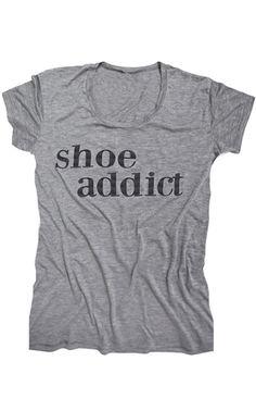 Shoe addict tee http://rstyle.me/n/hjk66nyg6