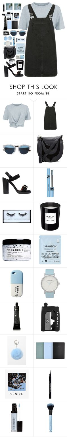 """Dark ocean"" by timeless0trends ❤ liked on Polyvore featuring T By Alexander Wang, Topshop, Christian Dior, Sam Edelman, Givenchy, Huda Beauty, Thierry Mugler, L:A Bruket, Starskin and Valfré"
