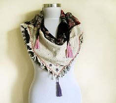 Fashion Scarf TURKISH yemeni and  Natural Fabric  by aynurdereli, $29.00