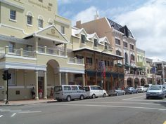 Shopping on Hamilton's Front Street in is a favorite activity among Bermuda cruisers.