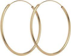 Pernille Corydon Jewellery Mini plain hoops size 20 mm, gold. 250 kr.