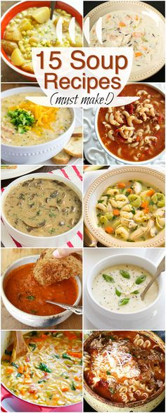 15 Absolutely Delicious Winter Soup Recipes -- pin this one so you don't lose it.