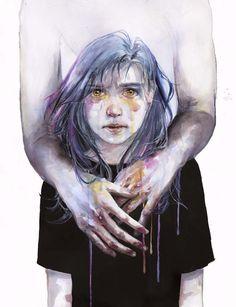 As fascinantes aquarelas de Agnes-Cecile - Nascida em 1991, a artista italiana Silvia Pelissero também conhecida como Agnes-Cecile já inspira muita gente com seu estilo único aplicado às suas belíssimas aquarelas.