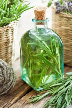 Make Your Own Natural Vinegar Hair Rinse Apple Cider Vinegar Cellulite, Apple Cider Vinegar For Skin, Rosemary Water, Grow Rosemary, Vinegar Hair Rinse, Rides Front, Infused Oils, Shampoo Bar, Kraut