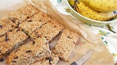 This is a great flapjack recipe for using up ripe bananas and is also low in fat...