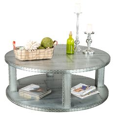 Jonas Coffee Table in Silver