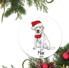 Yellow Lab Ornament Personalized Christmas by DesignMavensNYC