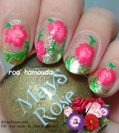 Bridal nails. One stroke flowers.  #nails #nail #fashion #style #TagsForLikes #cute #beauty #beautiful #instagood #pretty #girl #girls #stylish #sparkles  #gliter #nailart #art  #photooftheday #love #shiny #polish #nailpolish #nailswag #nailartist #art #drawing #watermarble #marbling