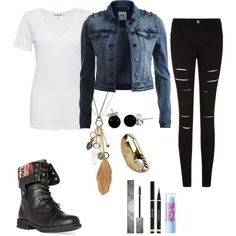 A fashion look from March 2015 featuring Cotton Citizen t-shirts, Object Collectors Item jackets and DailyLook ankle booties. Browse and shop related looks.